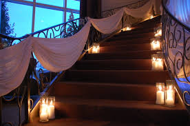 wedding staircase ornaments decor at belvedere events and banquets