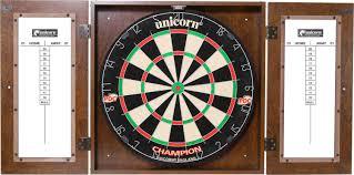 best dart board cabinet unicorn dynasty bristle dartboard cabinet set s sporting goods