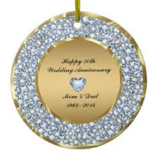 50th anniversary ornaments anniversary home decor pets products zazzle