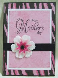 Mother Day Card by Mothers Day Cards Handmade Savvy Handmade Cards Pink Zebra