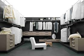 effective men closet design ideas with oak storage wall units and