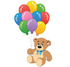 teddy bears in balloons teddy with colorful balloons vector free teddy