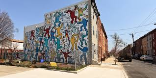 iconic keith haring mural is restored bringing endless smiles to iconic keith haring mural is restored bringing endless smiles to south philly streets huffpost