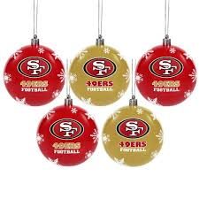forever collectibles san francisco 49ers shatterproof ornament