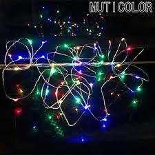 battery led christmas lights universal 2m 20 copper wire head l cr2032 button battery wedding