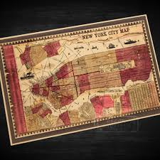 Wall Map Of New York City by Popular Vintage City Maps Buy Cheap Vintage City Maps Lots From