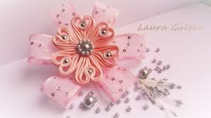 flower for hair ribbon flower for hair clip flor en cintas flor de fita artesanal