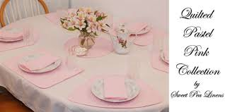 quilted placemats for round tables sweet pea linens pastel pink solid quilted placemats for round