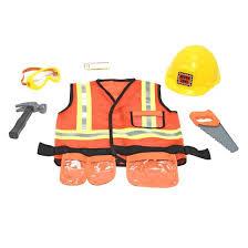 melissa u0026 doug construction worker role play costume dress up set