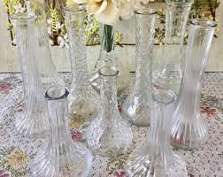 Vintage Vases Wedding Vintage Glass Vase Etsy
