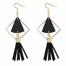 arabian earrings p123109 black wooden cloth geometry arabian hook earrings h0223
