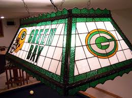 green bay packers lights green bay packer stained glass pool table rec room light glass