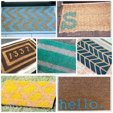 Hawaiian Doormats Lot Of Diy Doormat Inspiration Paint And Personalize Your Old Mat