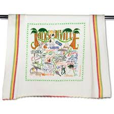 embroidered city dish towels