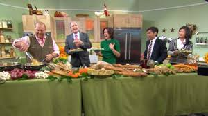 emeril s brined herb roasted turkey recipe abc news