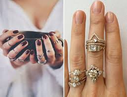 hand finger rings images Ways to rock stacked finger rings how to wear layered rings jpg