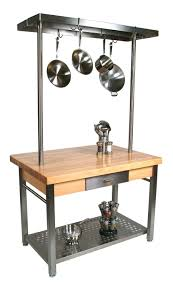Kitchen Work Table by John Boos Cucina Grande Maple U0026 Steel Work Table