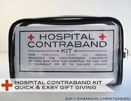 hospital gifts hospital contraband kit diy with printable ideas for 3
