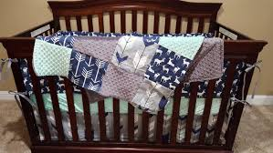 Minky Crib Bedding Baby Boy Crib Bedding Navy Deer Fletching Arrow Navy Arrow
