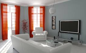 lovely combination of red and white livingroom curtains