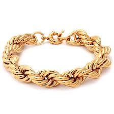 gold bracelet rope images Run dmc fat 16mm 18k gold rope dookie chain bracelet hip hop jpeg