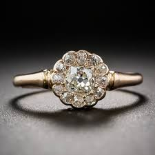 vintage rose rings images Antique diamond and rose gold cluster ring jpg