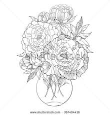 Draw A Flower Vase Flower Line Drawing Stock Images Royalty Free Images U0026 Vectors