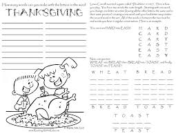 thanksgiving coloring pages and puzzles thanksgiving word search