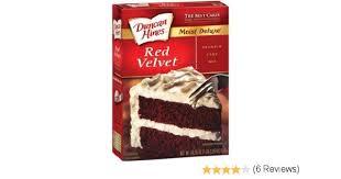 amazon com duncan hines cake red velvet 18 25 oz 6 unit pack
