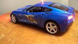 police corvette 1 18 michigan state police corvette stingray concept www po light