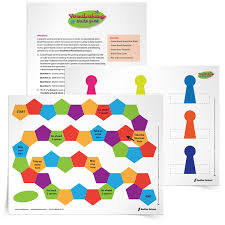 a blank template for students to create their own vocabulary game