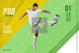 soccer strike psd mockup template templates creative market