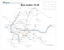 Bangkok Map Bangkok Bus Map Route 15 30
