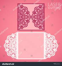 round wedding invitations laser cut wedding invitation card template stock vector 503240563