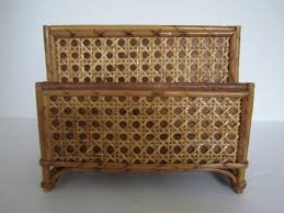 Vintage Desk Organizer Vintage Desk Organizer Bamboo And Rattan Letter Holder Or