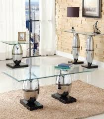 Coffee Table Set Glass Coffee And End Table Sets Foter