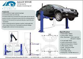 Low Ceiling 2 Post Lift by The Happ90 Low Rise Semi Portable Car Hoist