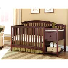 Sorelle Tuscany 4 In 1 Convertible Crib And Changer Combo by Mini Crib With Changing Table Combo Best Table Decoration