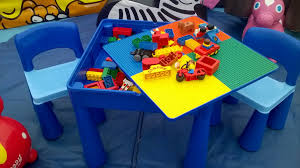 duplo preschool play table duplo play table chairs fete and party games hire