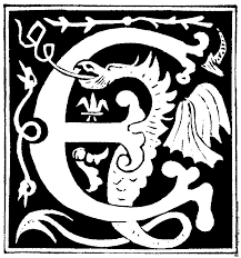decorative initial letter e from 16th century