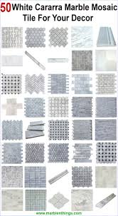 75 best white carrara marble mosaic tiles images on pinterest