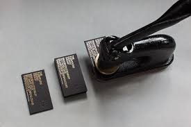 Premium Business Cards Embossed Different Ways Of Creating Handmade Business Cards Studio Embossed