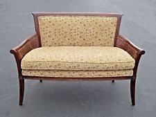 Vintage Settee Loveseat Cane Settee Antiques Ebay