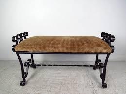 Wrought Iron Garden Swing by Furniture Custom Wrought Iron Bench For Your Garden Furniture