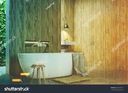 eco bathroom corner narrow windows green stock illustration