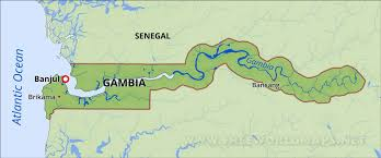 africa map gambia gambia physical map