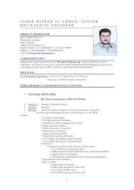 cv format for mechanical engineer fresher vacancy sle resume for experienced mechanical engineer resume sles