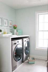 Bathroom Craft Ideas Colors A Bright Mint And Marble Laundry Room Makeover Inspiredhome