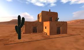 adobe house second life marketplace southwest adobe house with furniture 93