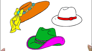 how to draw hat coloring pages for kids art colors for